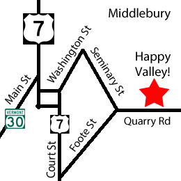 map showing location of orchard